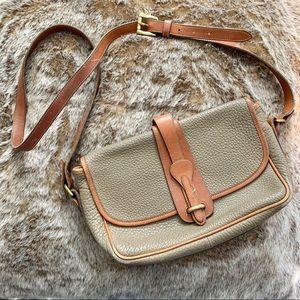 Dooney and Bourke Beige Leather Crossbody Bag